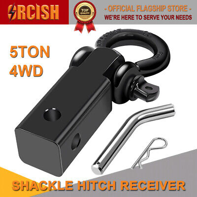 ORCISH 5T Shackle Hitch Receiver Recovery trailer Rating with Tow Bar D-ring 4WD for sale  Carson