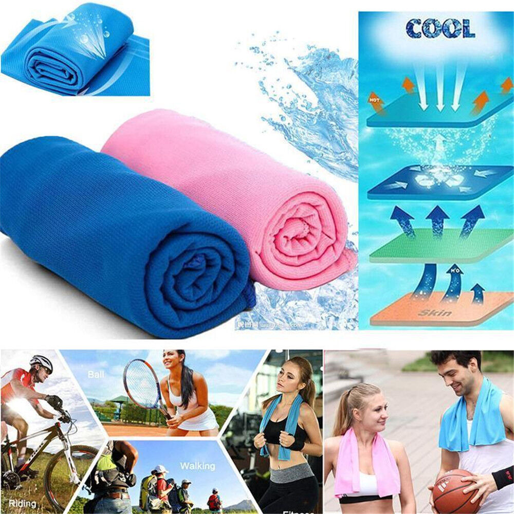 Outdoor Ice Cold Instant Cooling Towel Running Jogging Gym Chilly Pad Sport Yoga