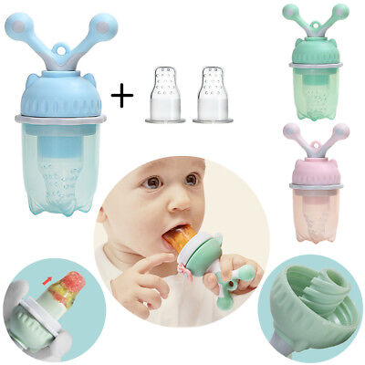 HQ Safe Baby Pacifier Bottle Adjustable Fresh Fruit Food Feeding Weaning Nipple