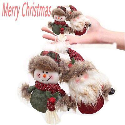 Christmas Hanging Tree Santa Claus Snowman Pendant Xmas Decor Gift Ornament New