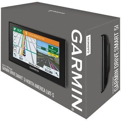 "Garmin DriveSmart 51 LMT-S 5"" GPS w/ Built-In Bluetooth, Excellant"