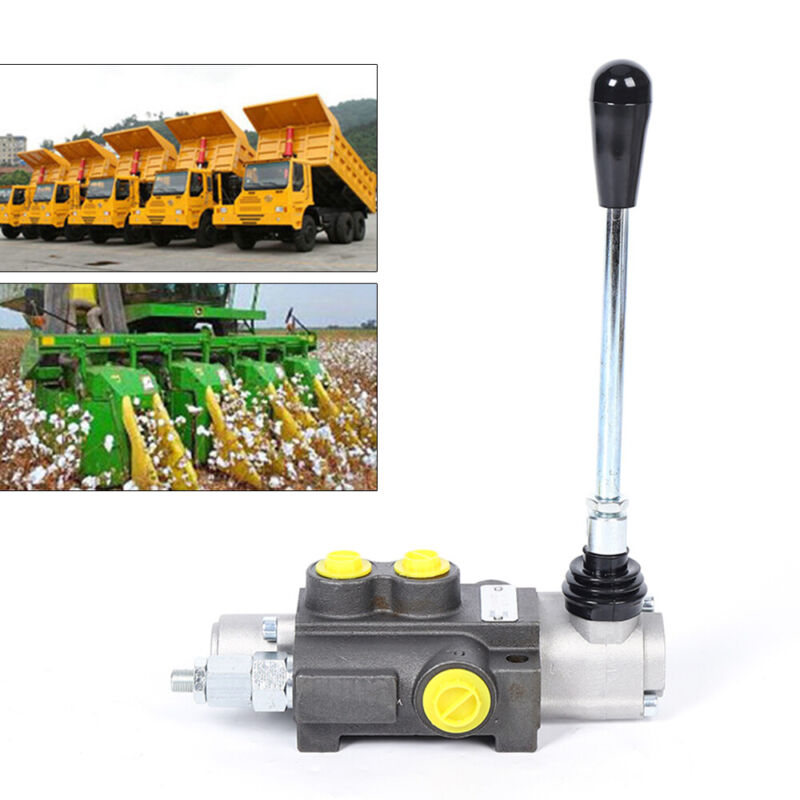 Hydraulic Directional Control Valve Tractor Loader w/ Joystick, 1 Spool 13 GPM