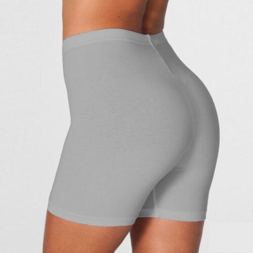 Damen High Bist Biker Shorts Baumwolle Oberschenkel Leggings Anti-Licht Hosen