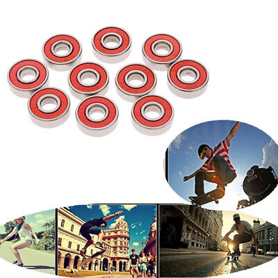 10 PCS Roller Skate Skateboard Ball Wheel Bearing ABEC-7 608 RS