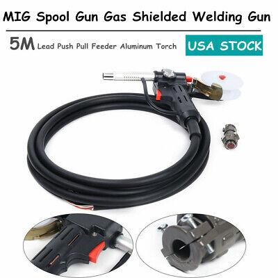 Mig Spool Gun Gas Shielded Welding Gun5m Lead Pushpull Feeder Aluminum Torchnew