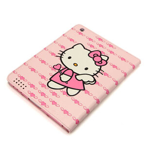Case for Apple iPAD 2 3 4 New KAE2 Hello Kitty Gen Smart Cover Wake Slim Stand