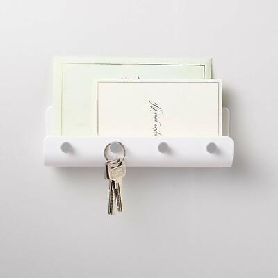 Letter Rack - Key Rack Holder Wall Mount Letter Organizer 4 Hooks Keychain Hanger Home Storage
