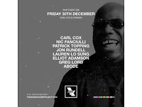 2x WHP Carl Cox tickets, Friday 30th December, Manchester
