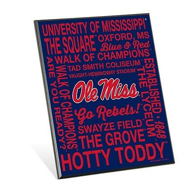 MISSISSIPPI OLE MISS REBELS HOTTY TODDY THE GROVE WOOD EASEL SIGN 8x10 WINCRAFT Ole Miss Rebels Wood