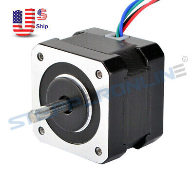 Dual Shaft Nema 17 Stepper Motor 26ncm36.8oz.in 0.4a 34mm 4 Wires 3d Printer
