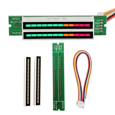Dual 12 Stereo Level Indicator Led Vu Meter Lamps Analyzer Audio Display Module