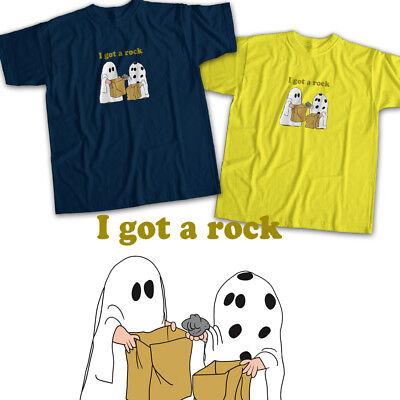 Charlie Brown Halloween I Got a Rock Ghost Mens Womens Kids Unisex Tee T-Shirt (A Charlie Brown Halloween)