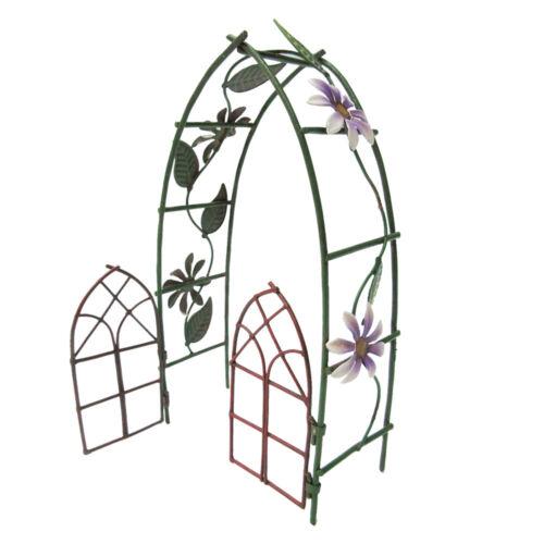 FAIRY GARDEN METAL ARBOR GATE Faerie Home Miniature Faery House Indoor Outdoor