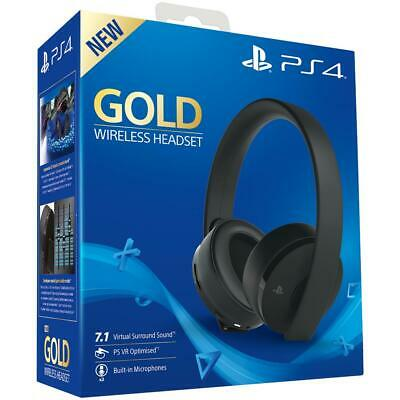 CUFFIE SONY GOLD PS4 WIRELESS HEADSET PLAYSTATION 7.1 VIRTUAL SURROUND