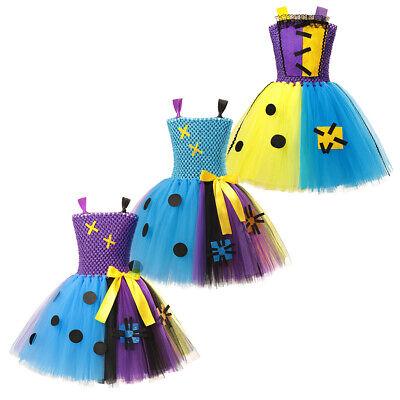 Prom Nightmare Costume (Nightmare Before Christmas Sally Fancy Costume Girls Tutu Dress Up Party)