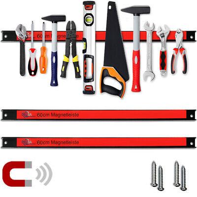 2x Barras magnéticas 60cm tiras para herramientas para taller pared bricolaje