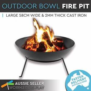 Cast Iron Patio Firepit Heater Plant Bowl 58cm Outdoor Stand Perth Perth City Area Preview