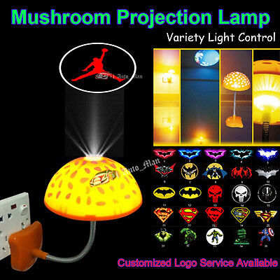 Michael Jordan Logo LED Mushroom Night Light Home/Club Wall Decorative Projector