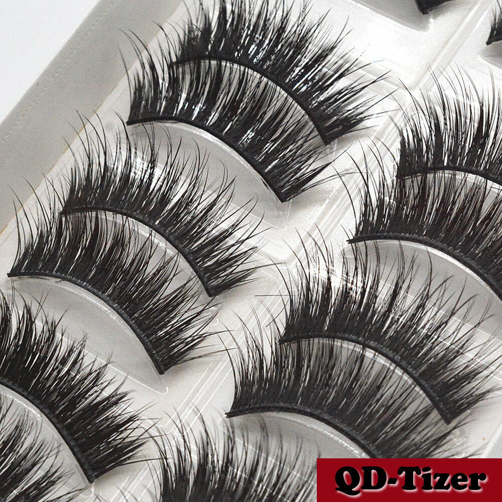 3D Real Mink Eyelashes 10 Pairs Natural False Long Thick Han