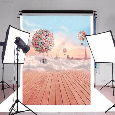 7DB1 Foto Hintergrund Studio Hintergrund  Holz  Regenbogen-Ballon Dreamy Fest