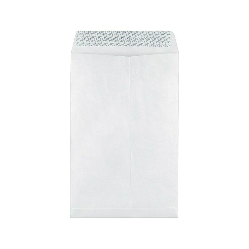 "Staples 10"" x 15"" Tyvek EasyClose Catalog Envelopes 100/Box 534933"