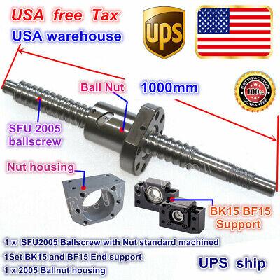 Usballscrew Rmsfu2005-1000mm End Machinedbkbf15 Supportnut Housing Cnc Kit