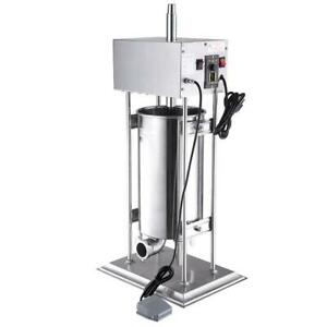 15L Electric Sausage Stuffer Vertical Stainless Steel Meat Filler Restaurant - FREE SHIPPING