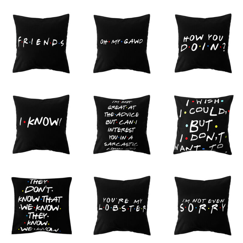 Home Decor Polyester Friends TV Show Pillow Covers Cushion C