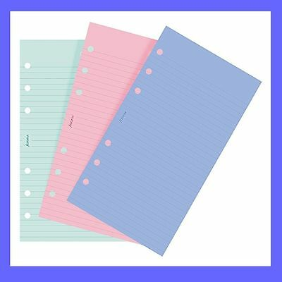 Personal Ruled Notepaper - Filofax Personal size Fashion Coloured Ruled Notepaper Refill Insert 130507
