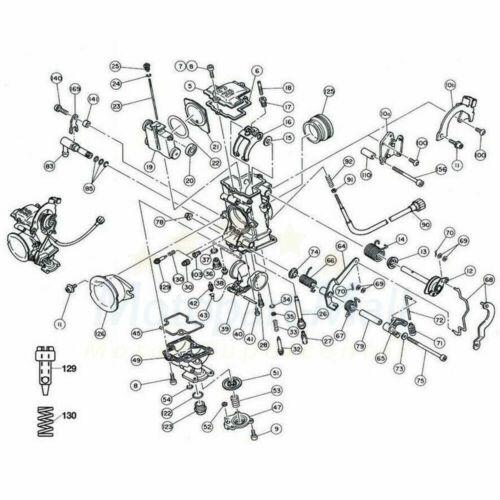 FCR39 Slant Side Carburetor For Suzuki DRZ400S 400E KLX400