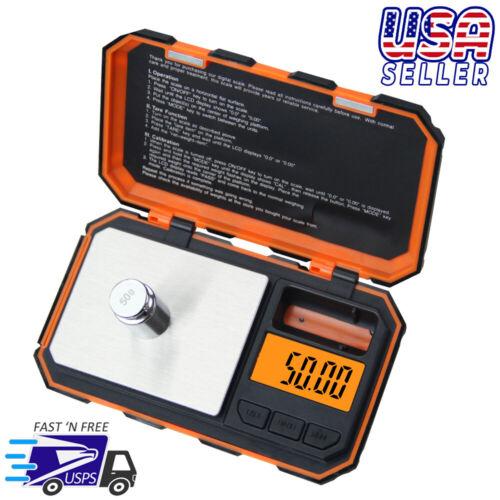 Orange Digital Pocket Scale 200g x 0.01g Jewelry Gold Gram Herb Karat Weight