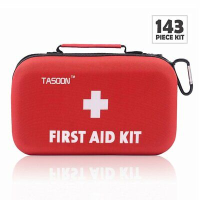First Aid Kit - 143 Pieces - Hard Case - Perfect for Hiking, Camping, Car, Home -