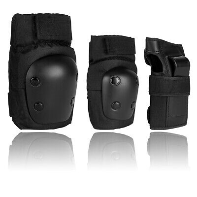 - US Adult Roller Skating Protective Gear Set Knee Pads Elbow Pads Wrist Guards