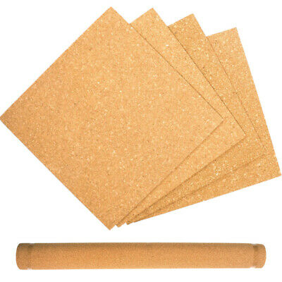 Craft County Cork Rolls and Tile Packs for DIY Bulletin Boards, Coasters, & More - Diy Tile Coasters