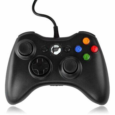 Nuevo controlador Negro USB Con Cable Para Microsoft Xbox 360 Windows PC...