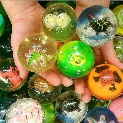 - 6 x Große Springbälle - Figuren Mix   NEU   Gummiball (Gummi-bälle)
