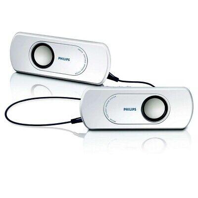 Conjunto De Altavoces Estéreo Portátil Philips SBA220 Jack 3,5mm Blanco