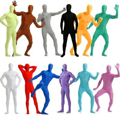 Full Body Lycra Spandex Zentai Suit Costume Men Party Skin Tight Catsuit Unitard - Full Body Catsuits