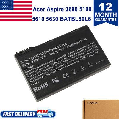 Laptop Battery for Acer Aspire 3690 5100 3100 3102 5610 5515 5610Z BATBL50L6 Acer Batbl50l6 Battery