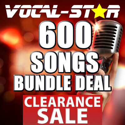 600 SONG CDG KARAOKE DISC SET POP CHART HITS - VOCAL-STAR BUNDLE