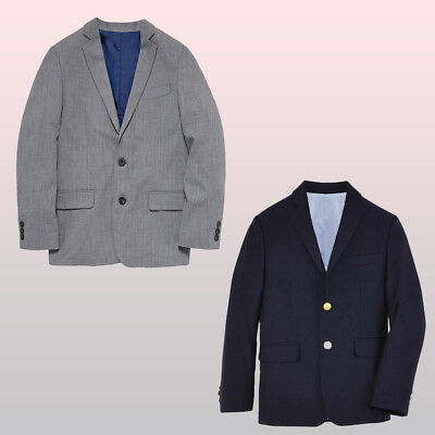 Light Grey Boys Suit (Sports Coat New Izod Big Boys Suit Jacket Formal Wear Light Grey or Navy 8 /)
