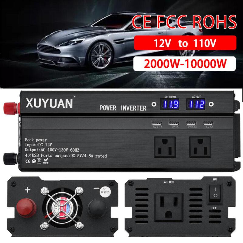 2500W~10000W Car Power Inverter Modified Sine Wave`WATT 12V