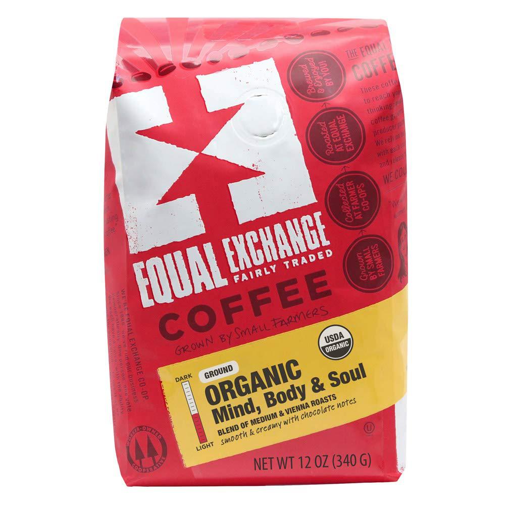 Equal Exchange Coffee Organic Ground Med & Vienna Roast Bag 12oz Coffee