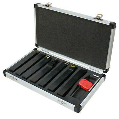 """5/8"""" Shank 7 Pc Indexable Carbide Turning Lathe Tool Set SCLCL SDJCR SWGCR SDNCN"""