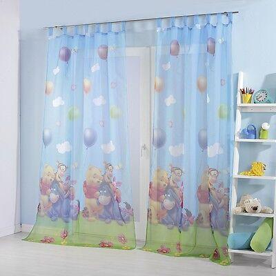 Gardinen Kinderzimmer Vorhang Set Winnie the Pooh 2er Packung 140x250 cm NEU