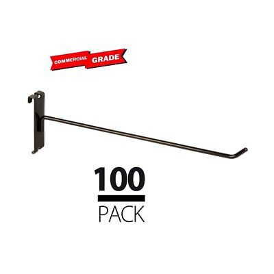 Commercial Grade Gridwall Hooks 12 Grid Panel Peg Hooks Black Pack Of 100