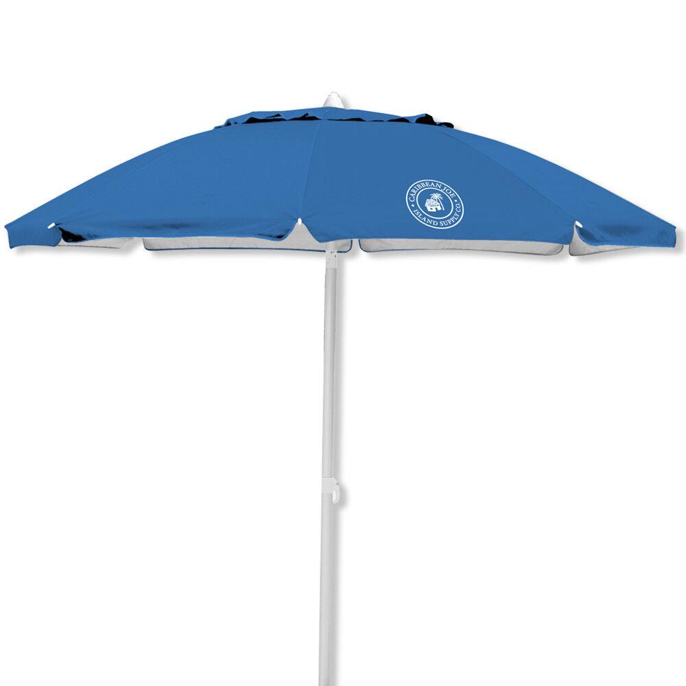 Caribbean Joe 7 Foot Beach Umbrella With UV and Carrying Cas