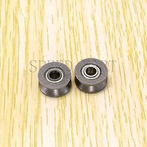 2pcs-V624ZZ-624VV-V-Groove-Guide-Pulley-Rail-Ball-Bearings-Metal-4mm-13mm-6mm