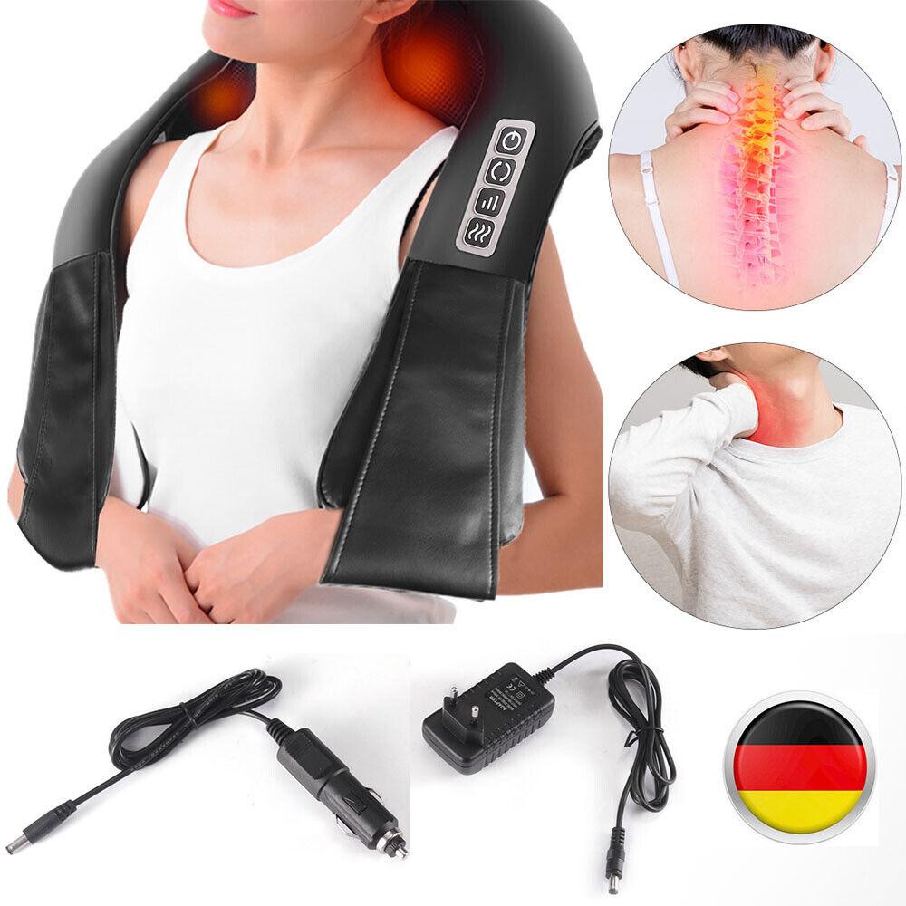 Massagegerät Nacken Schulter Elektrisch Massage Nackenkissen Naipo Shiatsu Nacke