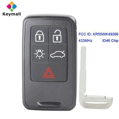 for Volvo S60 S80 V70 XC60 XC70 Remote Control Key Fob 433MHz ID46 KR55WK49266